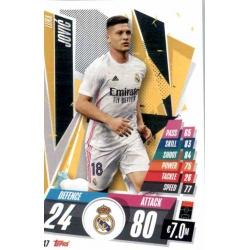 Luka Jovic Real Madrid REA17 Match Attax Champions International 2020-21