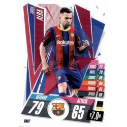Jordi Alba Barcelona BAR7 Match Attax Champions International 2020-21