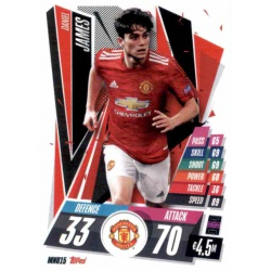 Daniel James Manchester United MNU15 Match Attax Champions International 2020-21