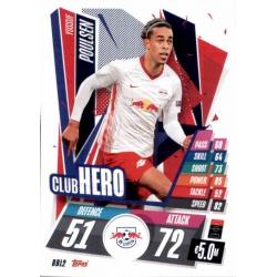 Yussuf Poulsen Club Hero RB Leipzig RBL2 Match Attax Champions International 2020-21
