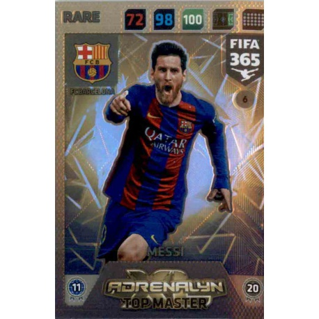 Lionel Messi Top Master Barcelona 6 FIFA 365 Adrenalyn XL 2018