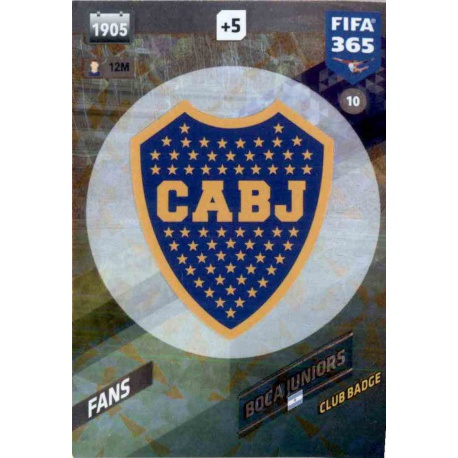 Escudo Boca Juniors 10 FIFA 365 Adrenalyn XL 2018