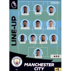 Line-Up Manchester City 45