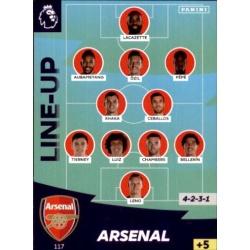 Line-Up Arsenal 117