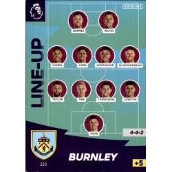 Line-Up Burnley 225