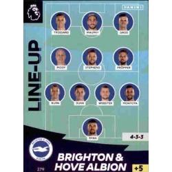 Line-Up Brighton & Hove Albion 279