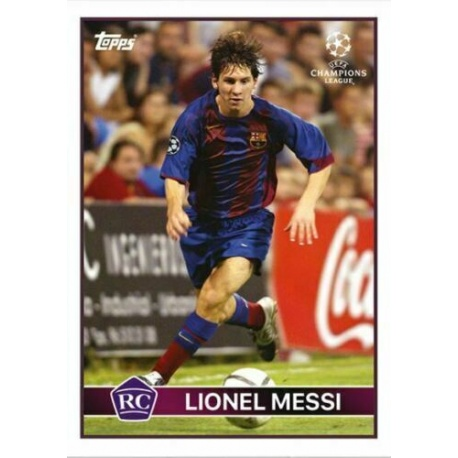 Leo Messi Barcelona Topps Lost Rookie Card