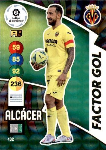 ALCACER #432 FACTOR GOL 2020-21 CROMO PANINI ADRENALYN XL LA LIGA 20//21