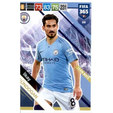 low priced 10200 5c5cf Big Offer cards İlkay Gündogan Manchester City panini fifa 365 adrenalyn  2019