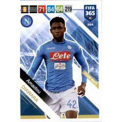 Amadou Diawara SSC Napoli 204 FIFA 365 Adrenalyn XL