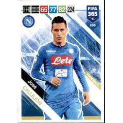 José Callejón SSC Napoli 205 FIFA 365 Adrenalyn XL