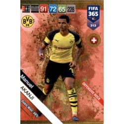 Manuel Akanji Defensive Rock 313 FIFA 365 Adrenalyn XL