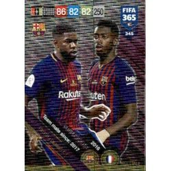 Umtiti / Dembélé Barcelona Club Country 345FIFA 365 Adrenalyn XL