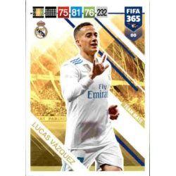 Lucas Vázquez Real Madrid 80 FIFA 365 Adrenalyn XL
