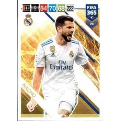 Nacho Real Madrid 74FIFA 365 Adrenalyn XL