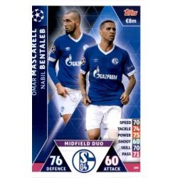 Omar Mascarell - Nabil Bentaleb - Midfield Duo FC Schalke 04 108 Match Attax Champions 2018-19