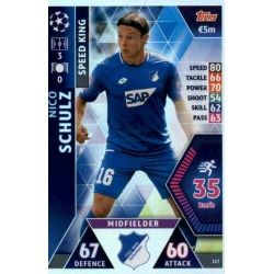 Nico Schulz - Speed King Hoffenheim 117 Match Attax Champions 2018-19