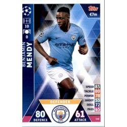 Benjamin Mendy Manchester City 148Match Attax Champions 2018-19