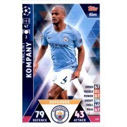 Vincent Kompany Manchester City 149Match Attax Champions 2018-19