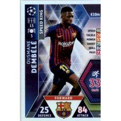 Ousmane Dembélé - Speed King Barcelona 15 Match Attax Champions 2018-19
