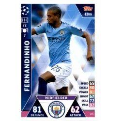Fernandinho Manchester City 153Match Attax Champions 2018-19