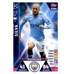 David Silva Manchester City 155Match Attax Champions 2018-19