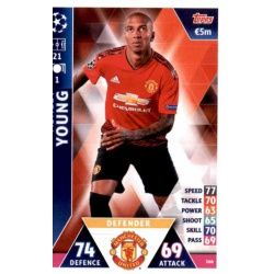 Ashley Young Manchester United 166 Match Attax Champions 2018-19