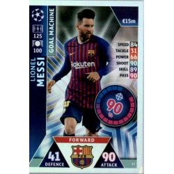 Lionel Messi - Goal Machine Barcelona 17Match Attax Champions 2018-19