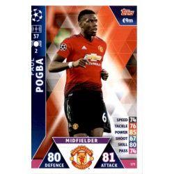 Paul Pogba Manchester United 173 Match Attax Champions 2018-19