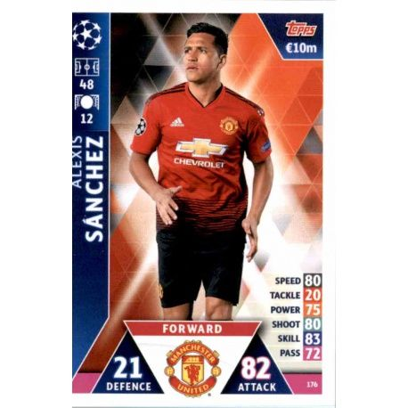 new product 5c9d7 d2c60 Big Offer Limited Alexis Sánchez Manchester United Topps Champions League  2019