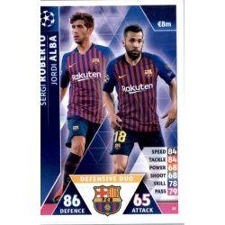 Jordi Alba - Sergi Roberto - Defensive Duo Barcelona 18 Match Attax Champions 2018-19