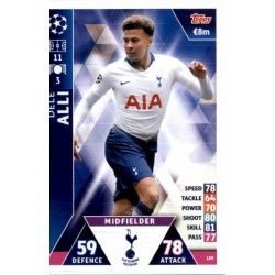 of thee Alli Tottenham Hotspur 189 Match Attax Champions 2018-19