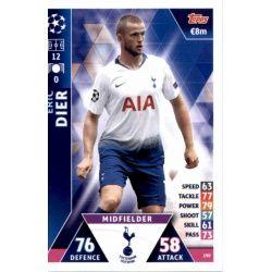 Eric Dier Tottenham Hotspur 190 Match Attax Champions 2018-19