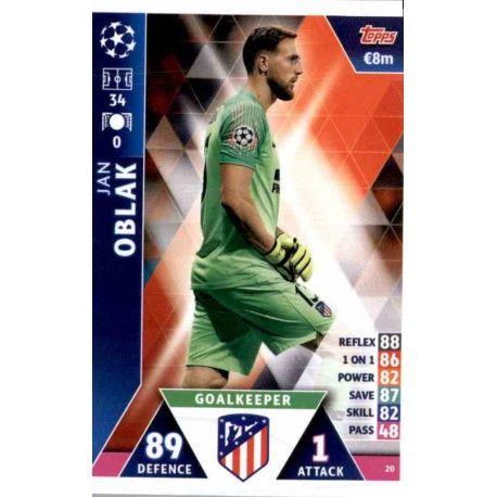 Sale Online Jan Oblak Atlético Madrid Topps Champions League 2018 -19 96a43d9f9