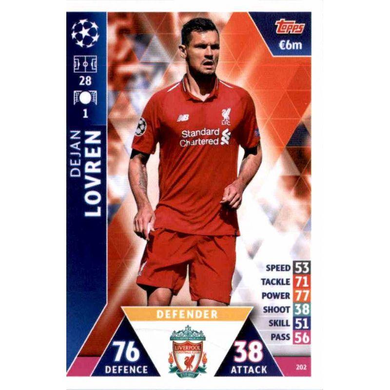 Sale Of Ofjan Lovren Liverpool Topps Champions League 2018 19