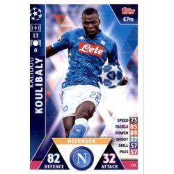 Kalidou Koulibaly SSC Napoli 222Match Attax Champions 2018-19