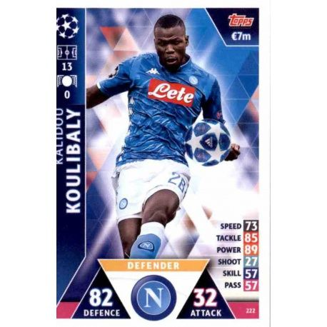 95582addb3dd9 Sale Online Kalidou Koulibaly SSC Napoli Topps Champions League 2018 19