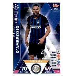 Danilo D'Ambrosio Internazionale Milan 257