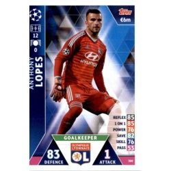 Anthony Lopes Olympique Lyonnais 308 Match Attax Champions 2018-19