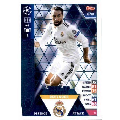 Dani Carvajal Real Madrid CF – 2017-18 Winners 39