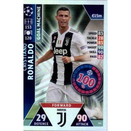 Cristiano Ronaldo - Goal Machine Juventus 394 Match Attax Champions 2018-19