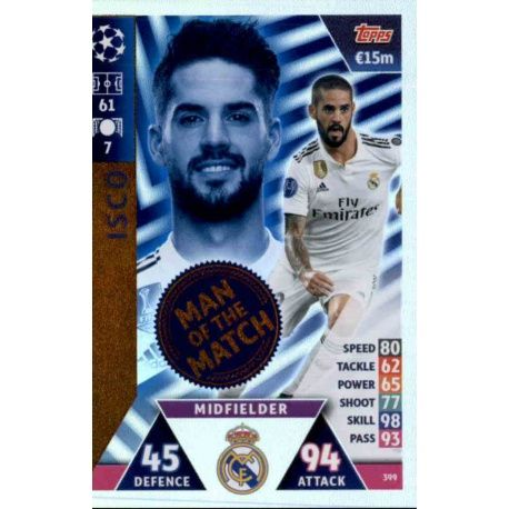 ee1bc14a471 Sale Trading Cards Isco Man of the Match Match Attax Champions 2018/19