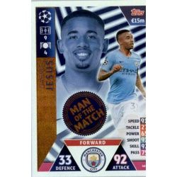 Gabriel Jesus Man of the Match 405