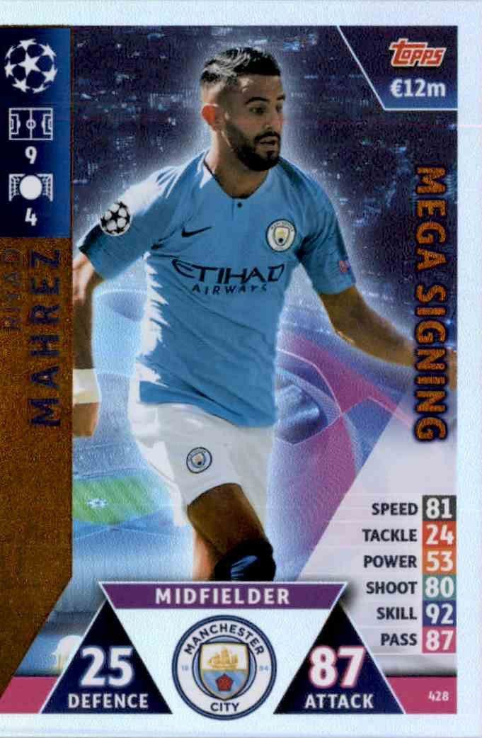 Vincent Kompany Sticker 157 Topps Champions League 18//19
