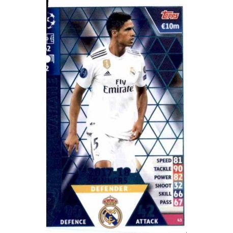 Raphaël Varane Real Madrid CF – 2017-18 Winners 43
