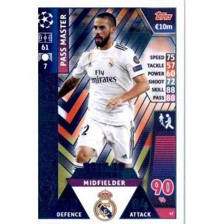 Isco - Pass Master Real Madrid CF – 2017-18 Winners 47