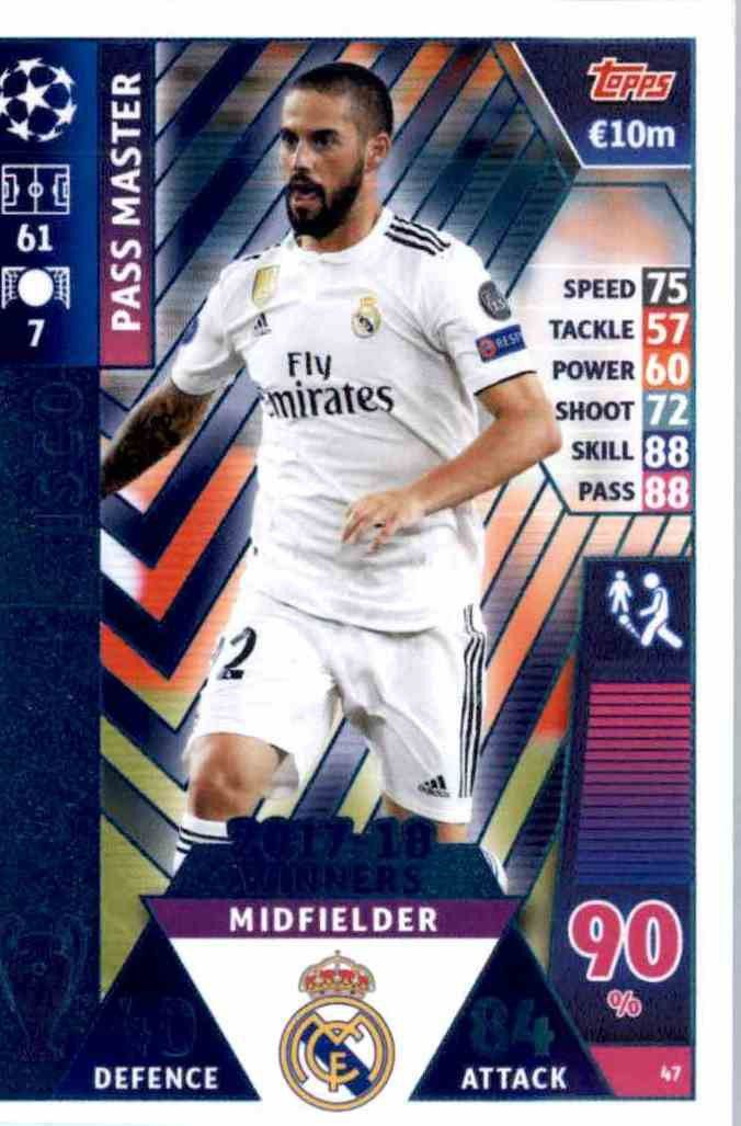 Gareth Bale Topps Champions League 18//19 Sticker 57