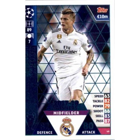 4df3f9b3a4a Buy Trading Cards Toni Kroos Real Madrid CF – 2017-18 Winners Match ...