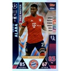 David Alaba - Pass Master Bayern München 76 Match Attax Champions 2018-19