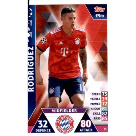 new style 83e56 4a4f3 Buy Online James Rodríguez Bayern München Topps Champions League 2018 -19